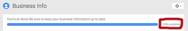 Completează pagina Google My Business urmând regulile optimizării off site Local SEO.